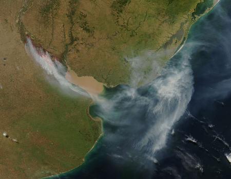 El fuego en el las islas del Delta del Paraná
