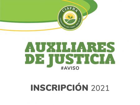 Inscripción Auxiliares de Justicia 2021