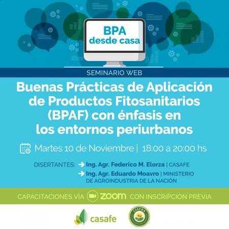 BUENAS PRACTICAS AGRICOLAS DE APLICACION DE FITOSANITARIOS, CON ENFASIS EN ENTORNOS PERIURBANOS
