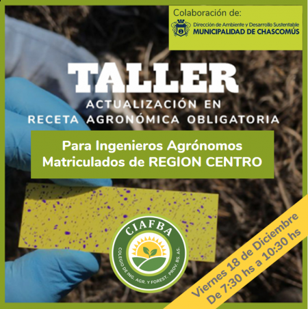 TALLER de Actualización en Receta Agronómica Obligatoria