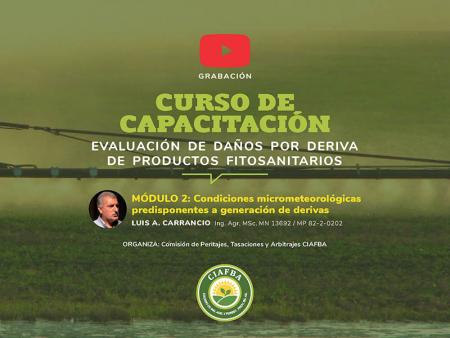 Capacitación: Evaluación de daños por deriva de productos fitosanitarios