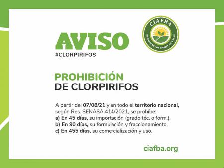 Prohibición de clorpirifos