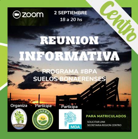 Programa #BPA Suelos Bonaerenses - REUNION INFORMATIVA